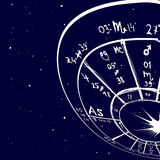 Astrologie hand-drawn achtergrond Stock Foto's