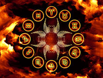 Astrologie-Hintergrund lizenzfreie stockbilder