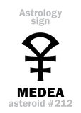 Astrologie : MEDEA en forme d'étoile Photographie stock libre de droits