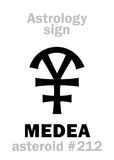 Astrologie : MEDEA en forme d'étoile Photos stock