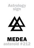Astrologie : MEDEA en forme d'étoile Photo libre de droits