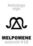 Astrologie : MELPOMENE en forme d'étoile Images stock