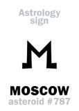Astrologie : MOSCOU en forme d'étoile Photographie stock