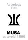 Astrologie : MUSA en forme d'étoile Photographie stock libre de droits