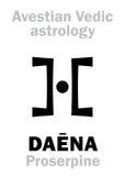 Astrologie : Na astral Proserpine de ‹de la planète DAÃ illustration stock