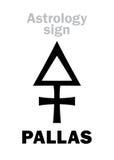 Astrologie : PALLAS en forme d'étoile Photos stock