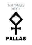 Astrologie : PALLAS en forme d'étoile Photos libres de droits