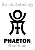 Astrologie : PHAÉTON astral de planète/Faridon Thraetaon illustration stock