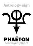 Astrologie : PHAÉTON détruit de planète Photo stock