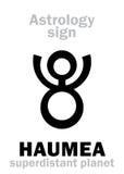 Astrologie : planète HAUMEA Photographie stock