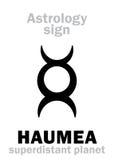 Astrologie : planète HAUMEA Image stock