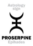 Astrologie : planète PROSERPINE Image stock
