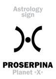 Astrologie : planète PROSERPINE Image libre de droits