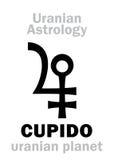 Astrologie : Planète uranian de CUPIDO Images libres de droits
