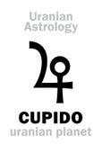 Astrologie : Planète uranian de CUPIDO Photos libres de droits