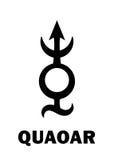 Astrologie : planetoid QUAOAR Image libre de droits