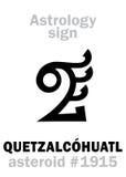 Astrologie : QUETZALCOHUATL en forme d'étoile Photographie stock