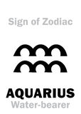 Astrologie : Signe de VERSEAU de zodiaque Photos libres de droits