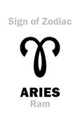 Astrologie : Signe de zodiaque ARIES The Ram Images libres de droits