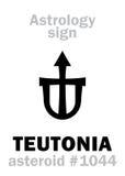Astrologie : TEUTONIA en forme d'étoile Photos libres de droits