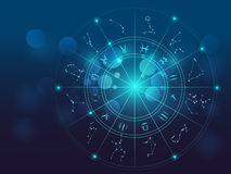 Astrologie- und Alchimiezeichenhintergrund-Vektorillustration vektor abbildung