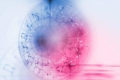 Astrologie- und Alchimiezeichenhintergrundillustration stock abbildung