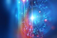 Astrologie- und Alchimiezeichenhintergrundillustration Stockfoto