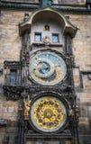 Astrologie und esotericism Alte astronomische Uhr in Prag, Tschechische Republik Stockbild