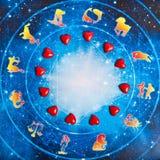 Astrologie und Liebe Stockfotos