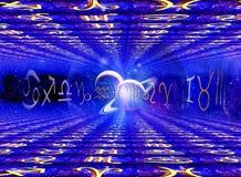 Astrologie und Universum stockfoto