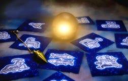 Astrologie und Weissagung Lizenzfreies Stockfoto