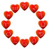 Astrologie unterzeichnet Herzen vektor abbildung
