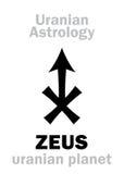 Astrologie: Uranian Planet ZEUSS stock abbildung