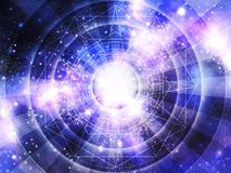Astrologiehoroskophintergrund stockfotos