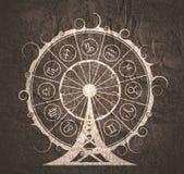 Astrologiesymbole im Kreis stockfoto
