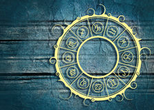 Astrologiesymbolen in cirkel Royalty-vrije Stock Fotografie