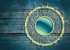 Astrologiesymbolen in cirkel Stock Foto