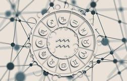 Astrologiesymbolen in cirkel Royalty-vrije Stock Afbeeldingen