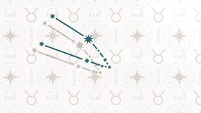 Astrologiezeichen Stier stock video footage
