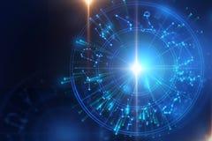 Astrologii i alchemii tła szyldowa ilustracja ilustracji