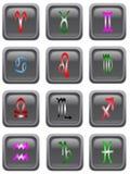 Astrologii ikony guziki Zdjęcie Royalty Free
