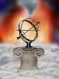 astrologii koło royalty ilustracja