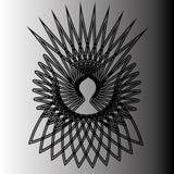 Astrologii pentogramm geometryczny deseniowy emblemat Zdjęcia Royalty Free