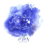 Astrologii szyldowy Aries Fotografia Royalty Free