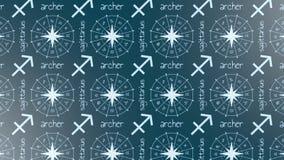 Astrologii szyldowy Sagittarius royalty ilustracja