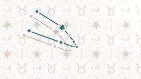 Astrologii szyldowy Taurus ilustracja wektor