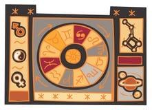astrologiillustration Arkivfoton