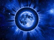 astrologimoon stock illustrationer