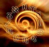 Astrologisch wiel royalty-vrije illustratie