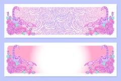 Astrologische de kleur van Schorpioen het schilderen banners stock illustratie